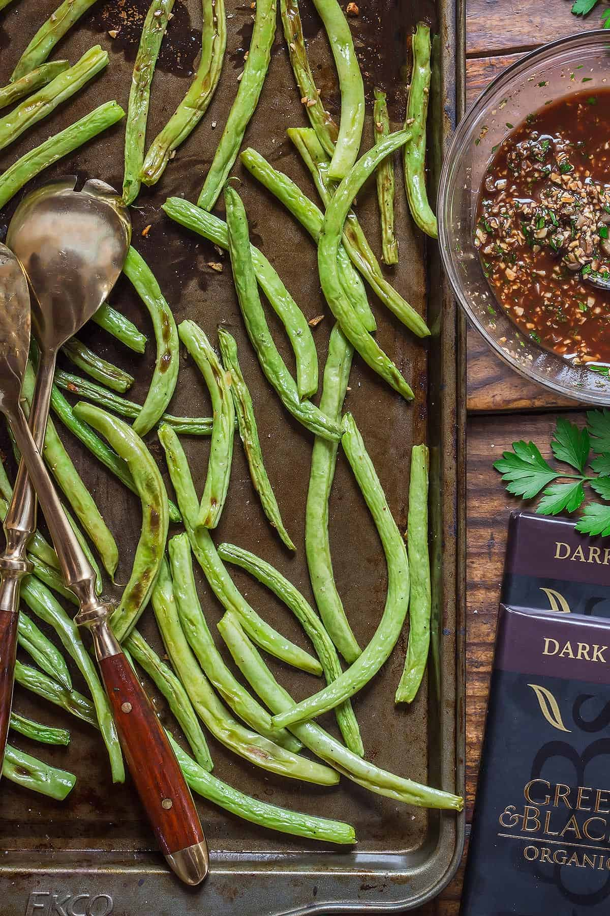 Oven Baked Green Beans